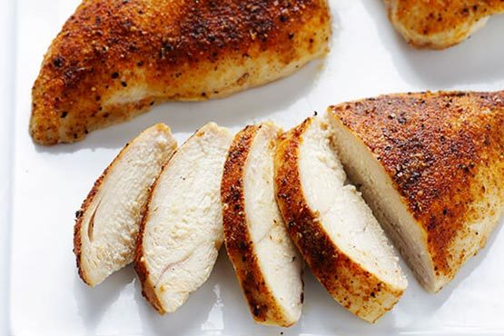 Dinner recipes with chicken . Baked chicken breasts