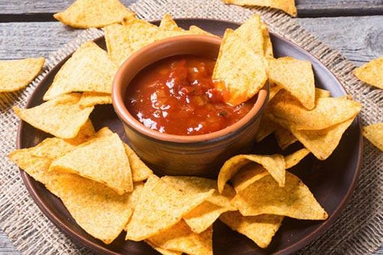 How to make tortilla chips . Air Fried Tortilla Chips