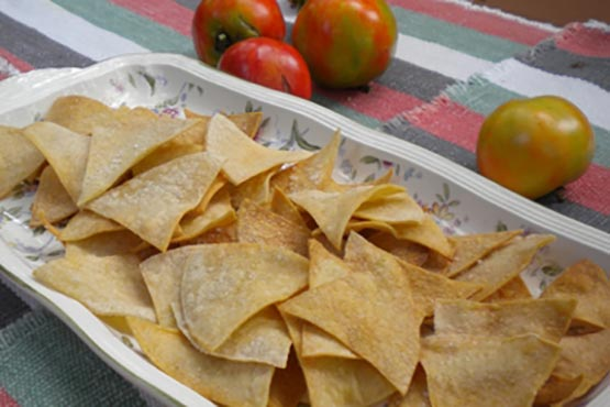 How to make tortilla chips . Homemade Tortilla Chips
