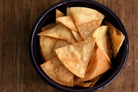 How to make tortilla chips . Basic Tortilla Chips