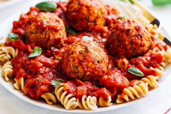 Vegan recipes for dinner . Vegan Zucchini 'Meatballs'