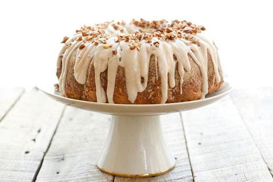Bundt cake recipes . Banana Bundt Cake with Cinnamon Cream Cheese Icing