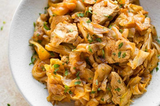Easy chicken recipes . Easy Chicken and Cabbage Stir Fry
