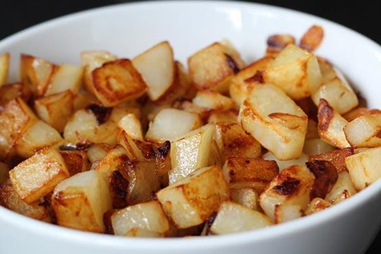 Fried potato recipes . Butter Fried Potatoes