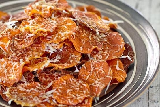 Recipes with butternut squash . Baked Butternut Squash Chips