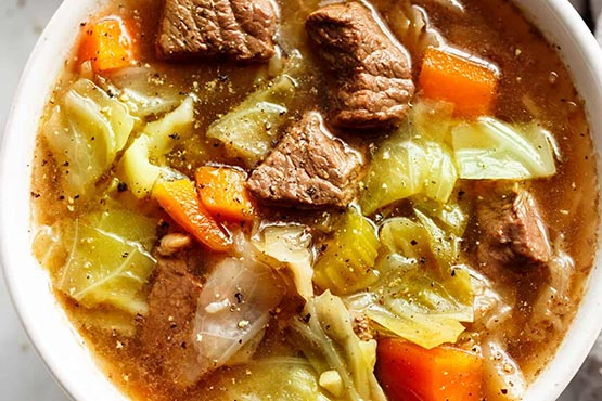 Recipes with cabbage . Beef Cabbage Soup