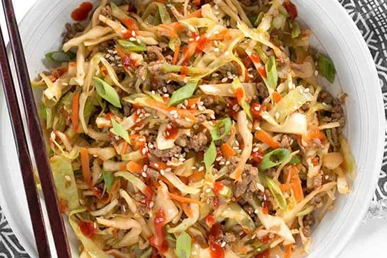 Recipes with cabbage . Beef and Cabbage Stir Fry