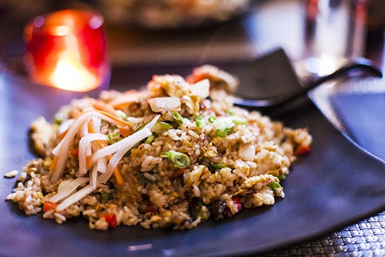 Recipes with fried rice. Quick and easy to make at home
