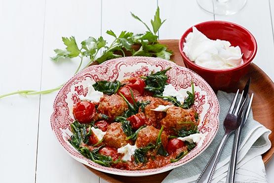 Recipes with meatballs . Italian keto meatballs with mozzarella cheese