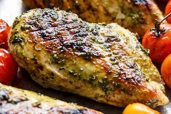 Recipes with pesto . 2 ingredient pesto chicken