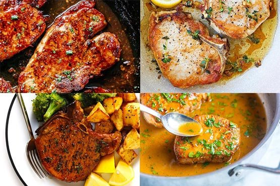 Recipes with pork chops. Juicy, tender, and flavorful.