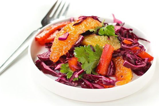 Recipes with red cabbage . Red Cabbage Salad Recipe with Honey Lime Dressing