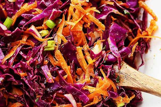 Red cabbage recipes . Red Cabbage and Carrot Slaw Recipe