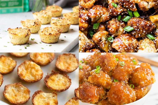 Cauliflower appetizers .  Perfect party appetizers