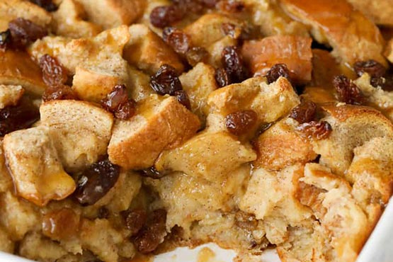Recipes with bread . Easy Bread Pudding
