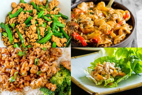 Recipes with ground chicken. flavorful and healthy.