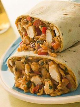 Ground Chicken Caribbean Burrito