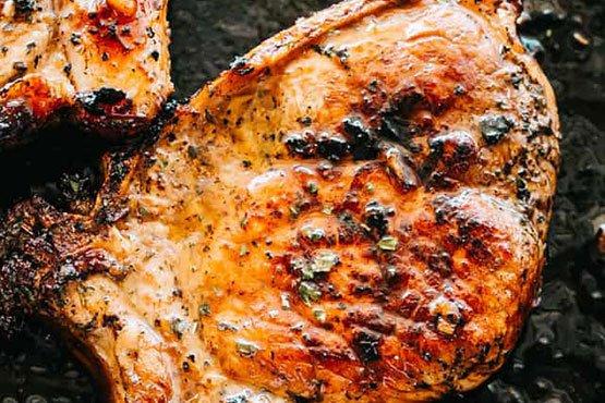 Easy recipes with pork chops . Honey Garlic Baked Pork Chops
