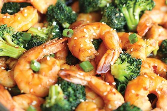 Easy recipes with shrimp . Easy shrimp and broccoli stir fry