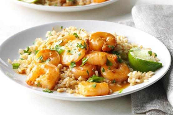 Easy recipes with shrimp . Sesame Cilantro Shrimp