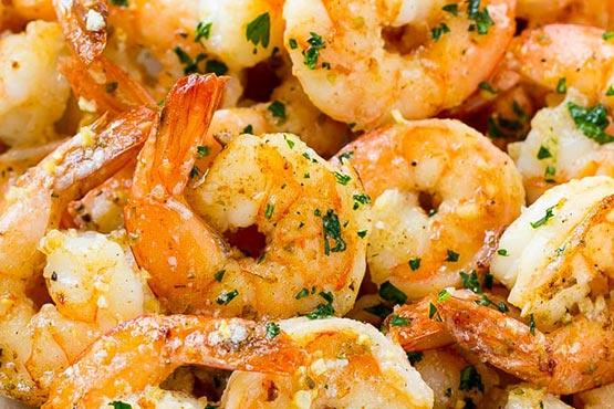 Easy recipes with shrimp . Garlic Butter Shrimp
