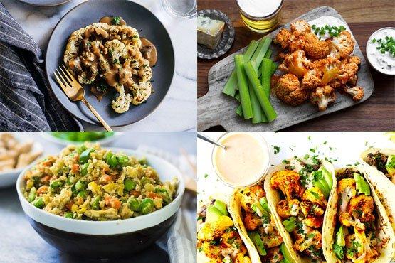 Healthy cauliflower recipes. delicious food