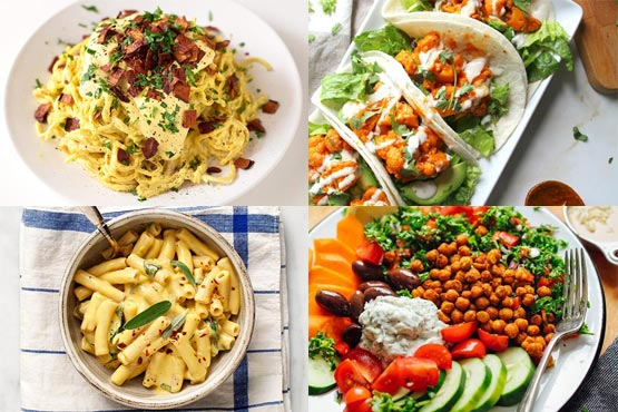 Vegan dinner recipes. Healthy meal