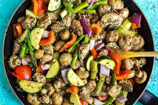 Healthy easy dinner recipes . 30-Minute One Pan Italian Chicken Skillet