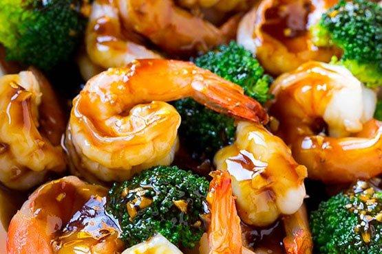 Healthy easy dinner recipes . Honey Garlic Shrimp Stir Fry