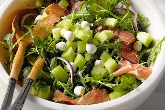 Recipes with melon . Honeydew & Prosciutto Salad