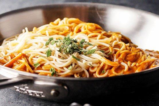 Comfort food recipes . Vegan Tuscan Pumpkin Pasta Sauce