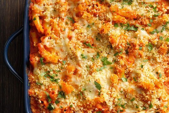 Comfort food recipes . Five-Cheese Ziti al Forno
