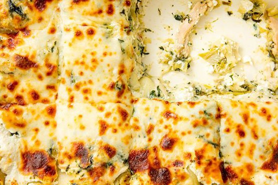 Comfort food recipes . Chicken, Spinach & Artichoke Lasagna
