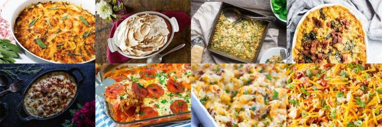 Easy comfort food casseroles, creamy and delicious.