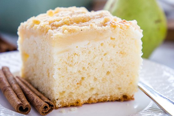 Pear cake recipes . Pear Streusel Cake