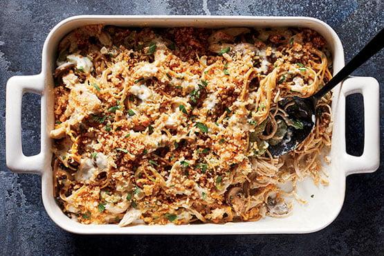 Baked pasta recipes . Healthy Chicken Tetrazzini
