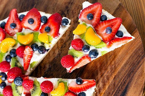 Fruit pizza recipes . Fresh Fruit Pizza