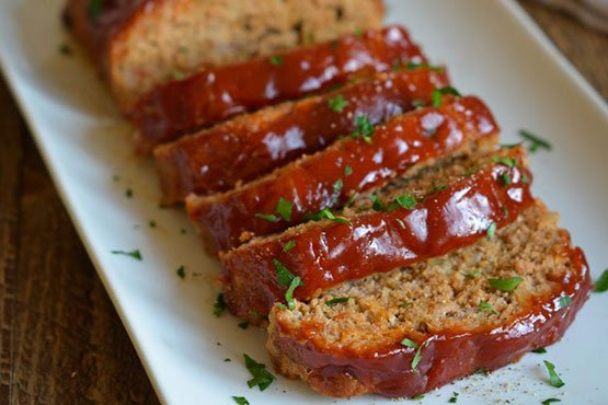 Ground turkey meatloaf recipes . Turkey Meatloaf with BBQ Glaze