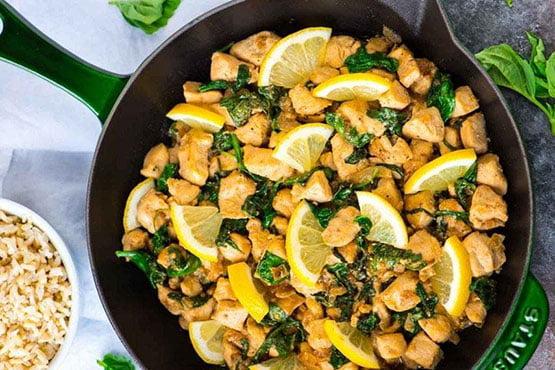 Healthy dinner ideas with chicken . Lemon Basil Chicken