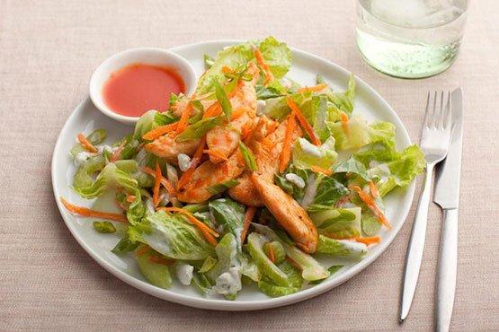 Healthy dinner ideas with chicken . Buffalo Chicken Salad