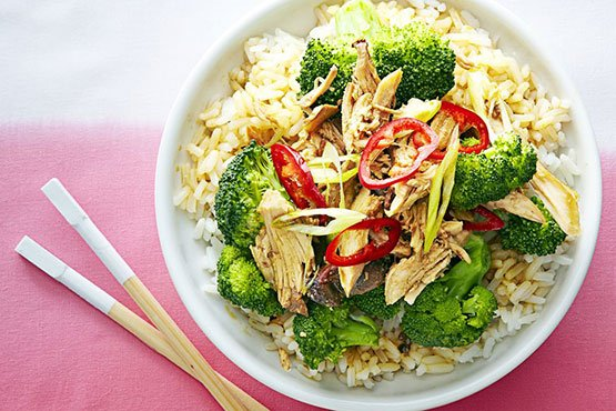 Healthy dinner ideas with chicken . Slow Cooker Sesame-Garlic Chicken