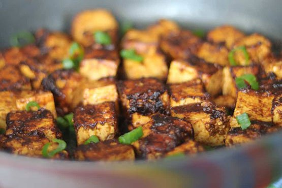 Healthy recipes with peanut butter . Spicy Vegan Peanut Butter Tofu. Gluten Free, Healthy