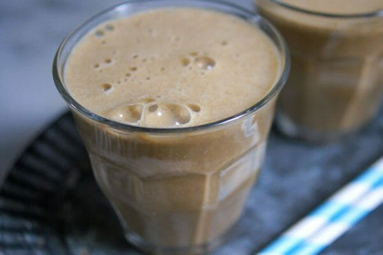 Healthy recipes with peanut butter . Healthy Chocolate Peanut Butter Smoothie