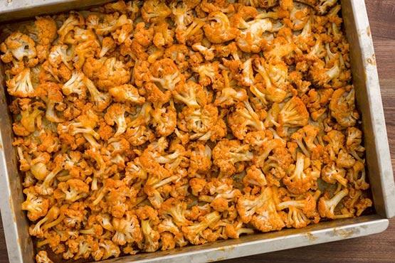 Roasted cauliflower recipes . Buffalo Roasted Cauliflower