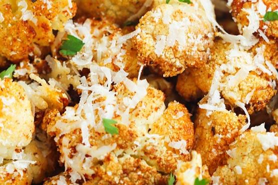 Roasted cauliflower recipes . Garlic Parmesan Roasted Cauliflower
