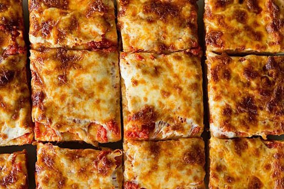 Sicilian pizza recipes . Thick-Crust Sicilian-Style Pizza