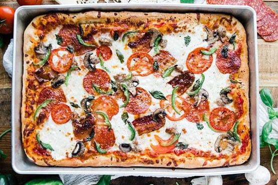 Sicilian pizza recipes . Sheet Pan Sicilian Pizza Recipe