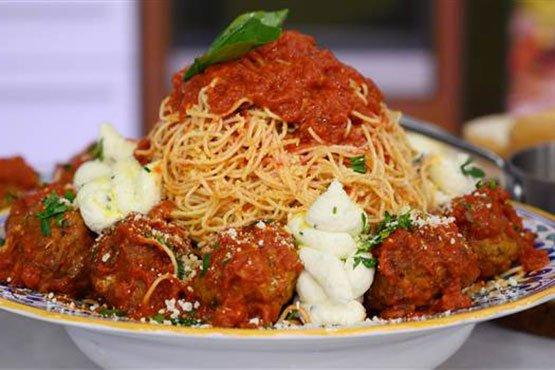Spaghetti with meatballs recipes . Spaghetti with Meatballs in Marinara Sauce