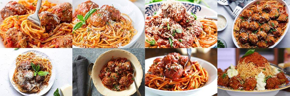 Spaghetti with meatballs recipes