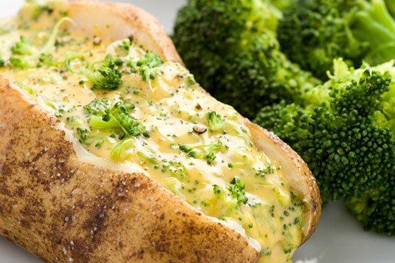 Broccoli Cheddar Baked Potato